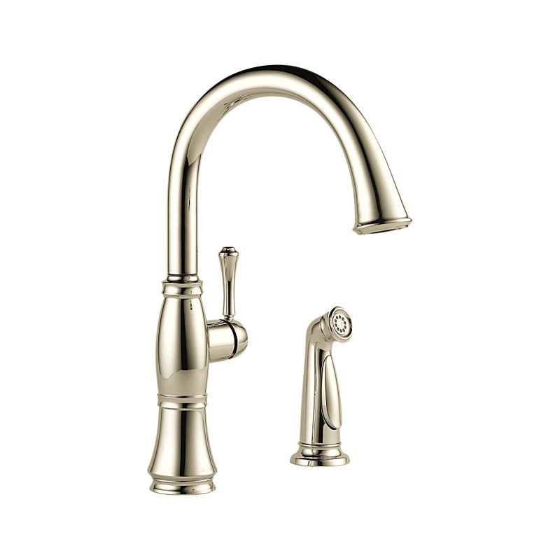 4297-PN-DST Cassidy™ Single Handle Kitchen Faucet with Spray : Kitchen Products : Delta Faucet