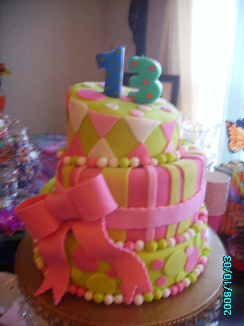 bithday cake 13th Birthday Cakes for Girls Girls 13th Birthday