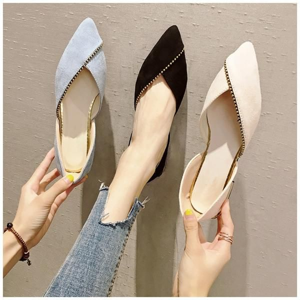 f229a6d886856a Women Ballet Slip On Loafers Pointed Toe Casual Flat Shoes in 2019 ...