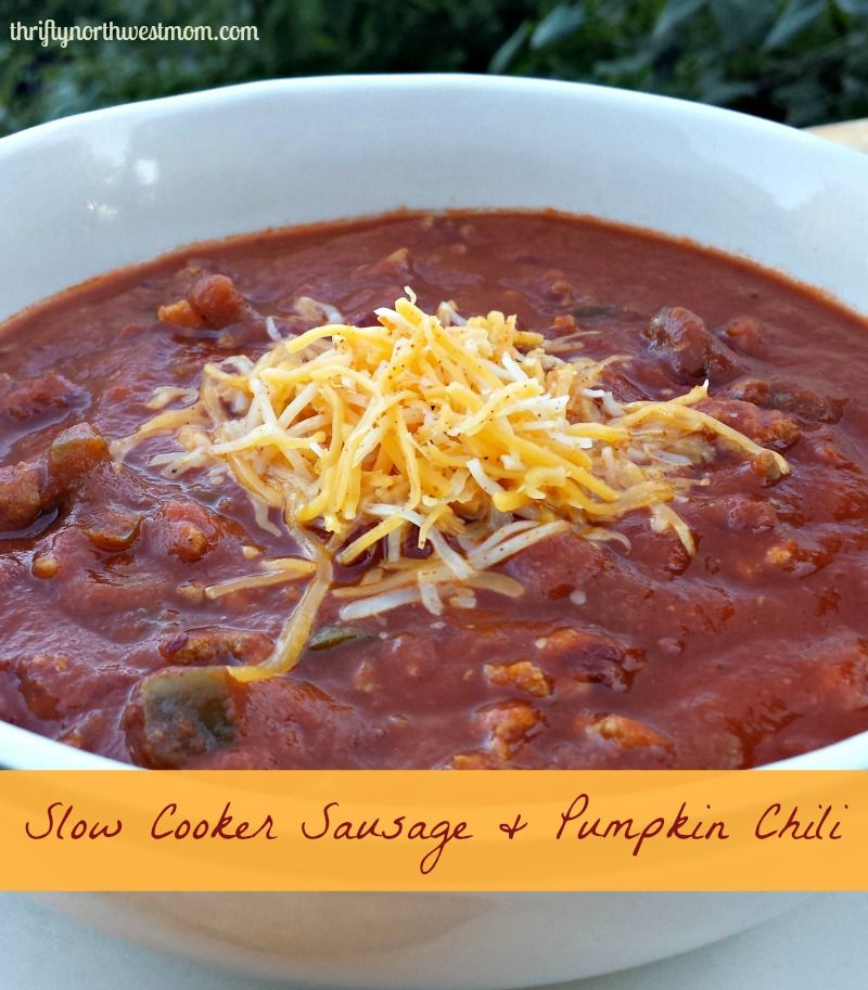 Slow cooker sausage and pumpkin chili delicious fall for Delicious slow cooker soup recipes