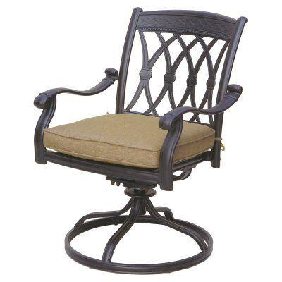 Outdoor Darlee San Marcos Swivel Rocker Patio Chair - Set of 2 - ELIT395