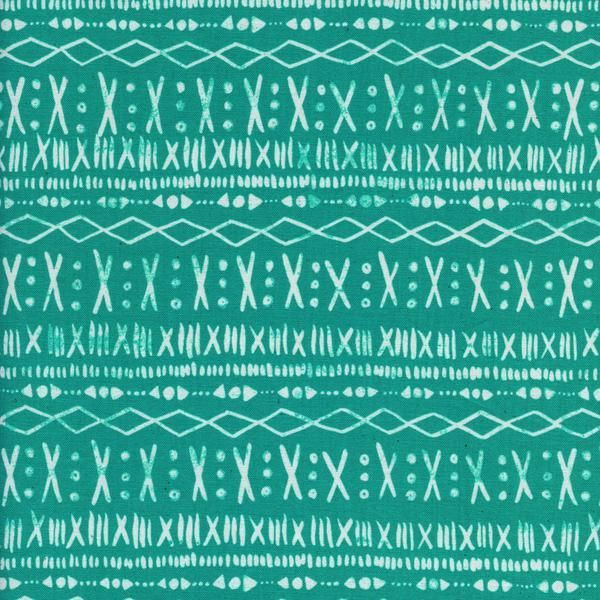Stitch Turquoise | Print Shop | Cotton+Steel | 100% Unbleached Cotton Fabric | UK | The Fabric Fox