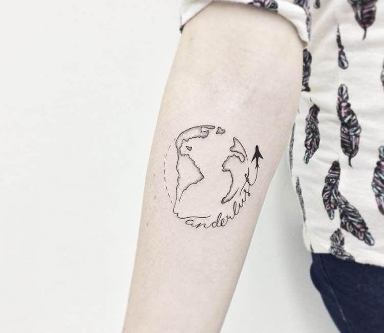 996ac8c84e499 Planet Earth tattoo by Kristie Yuka | Tattoo Art | Earth tattoo ...