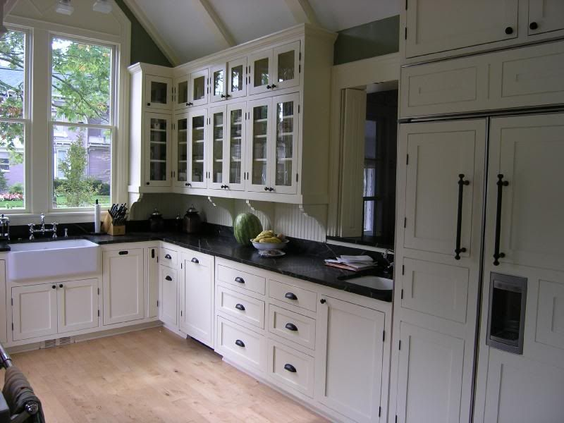 white cabinets farmhouse sink | Beadboard backsplash ...