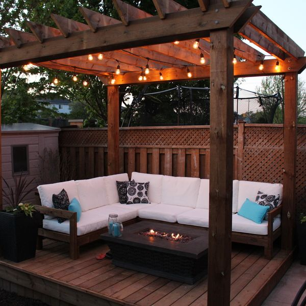 RYOBI NATION  Pergola Paradise is part of Backyard seating area, Backyard seating, Backyard patio designs, Patio deck designs, Backyard patio, Patio design - impact driver kit were essential to getting the job done  Our friends and family cannot wait to hang out in our backyard this summer!