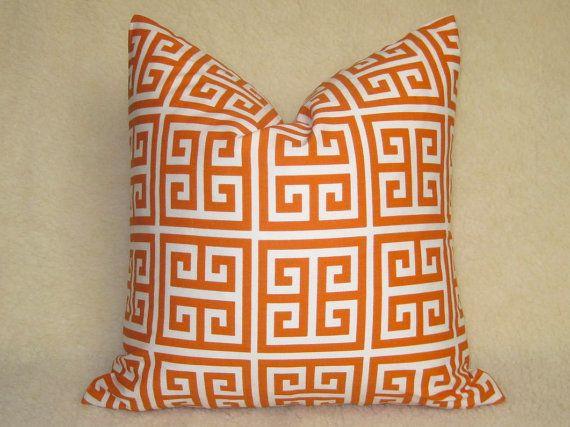 Designer Decorative Greek Key Pillow  Squares  by WillaSkyeHome, $30.00