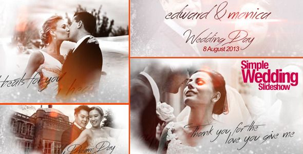 Simple Wedding Slideshow | Wedding After Effects Template ...