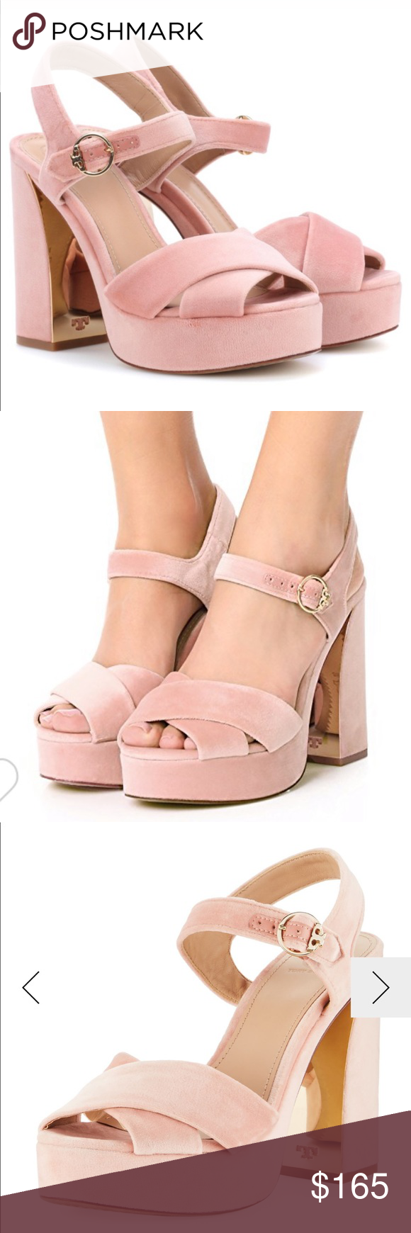 60d295161f9500 Tory Burch Loretta Velvet Platform Sandal Pink 7.5 Loretta Velvet Platform  Sandal