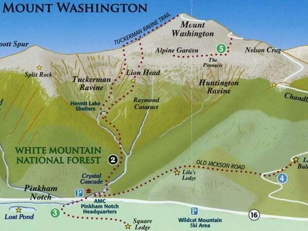 Jewell Trail Mt Washington Map.Lion Head Trail Mt Washington Nh Google Search Trying To Get