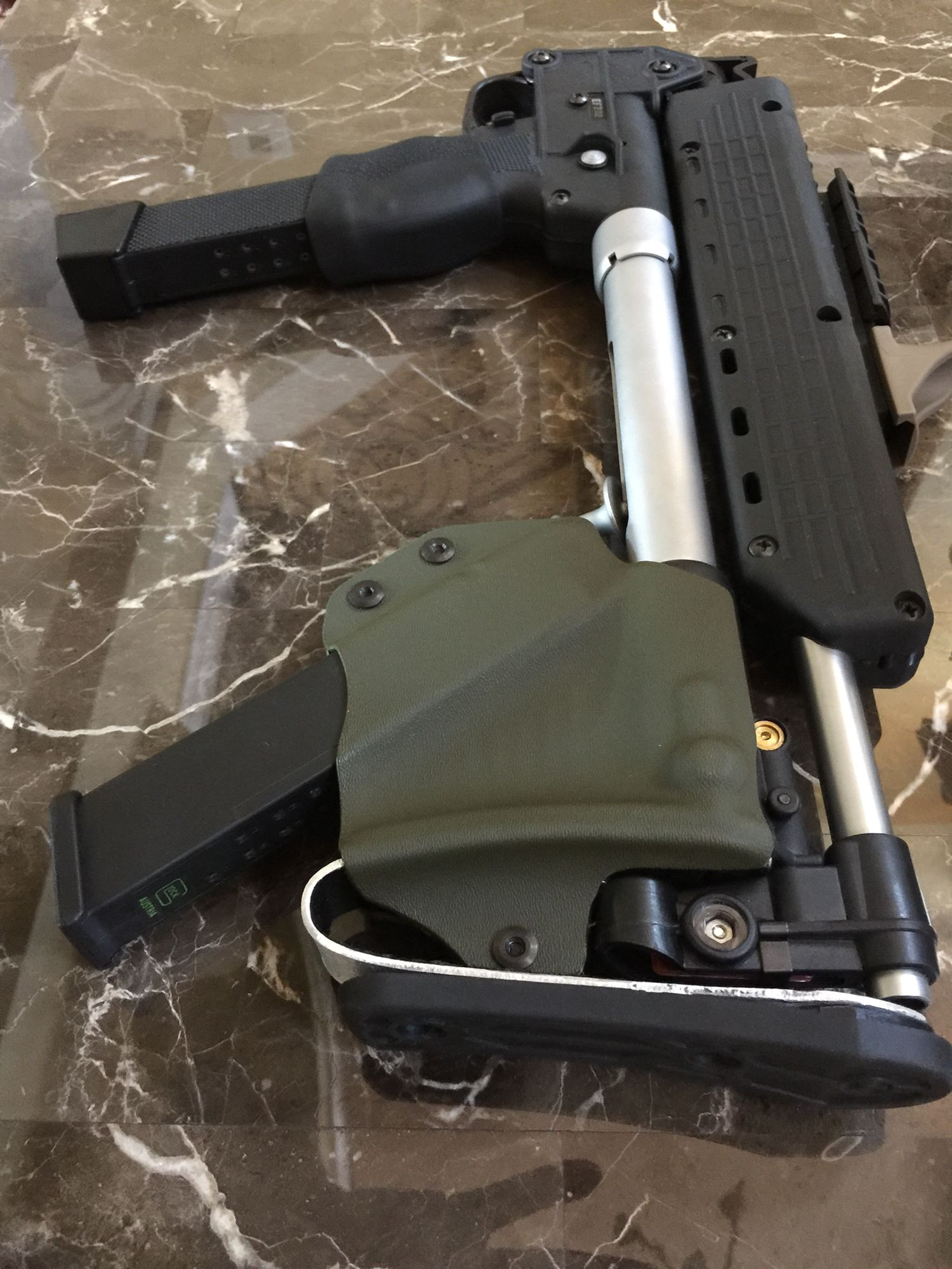 Sub 2000 Spare Magazine Holder sub 41 custom modifications But extension pad and spare 5