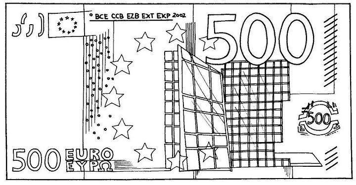 Biljet Van 500 Euro Geld Kleurplaten Pinterest Euro En Vans