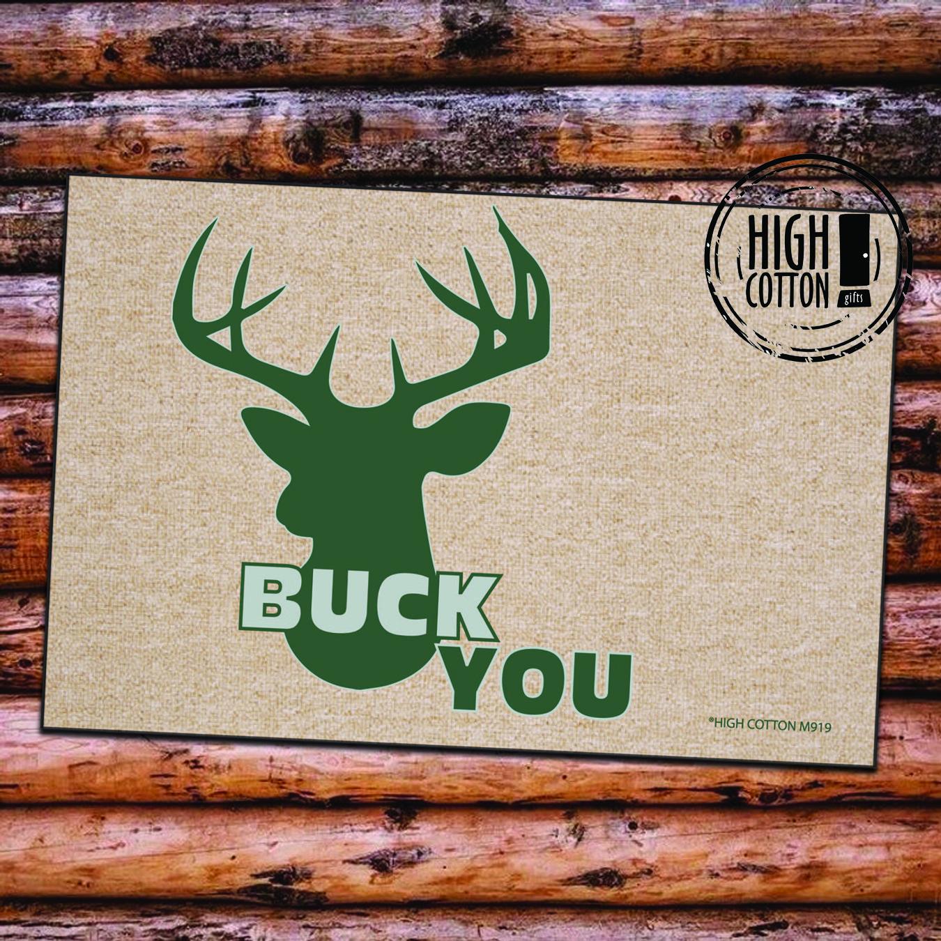 Buck you deer head doormat funny gifts for women