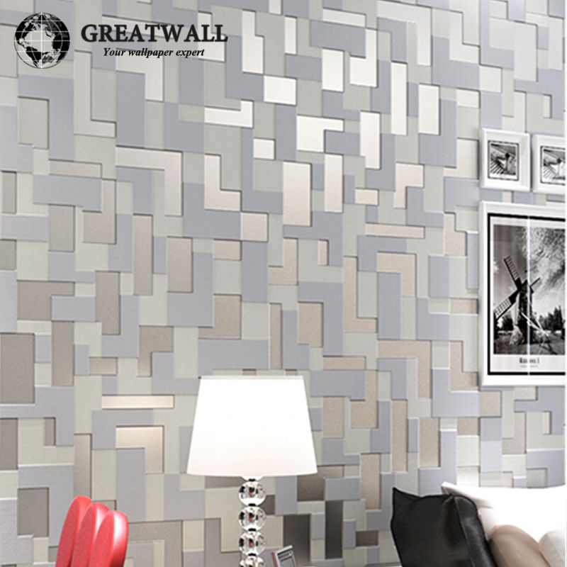 Barato new fashion modern mosaico 3d pap is de parede para for Papel de pared barato