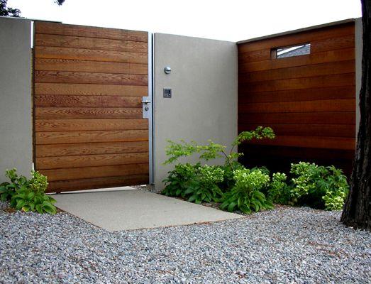 gate, fence, hardscaping, gravel, landscape architecture, gardening, landscape design
