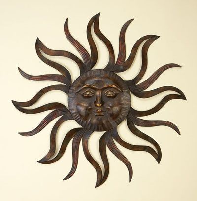 Outside Metal Wall Art With Sun Outdoor Absolutely Adorable