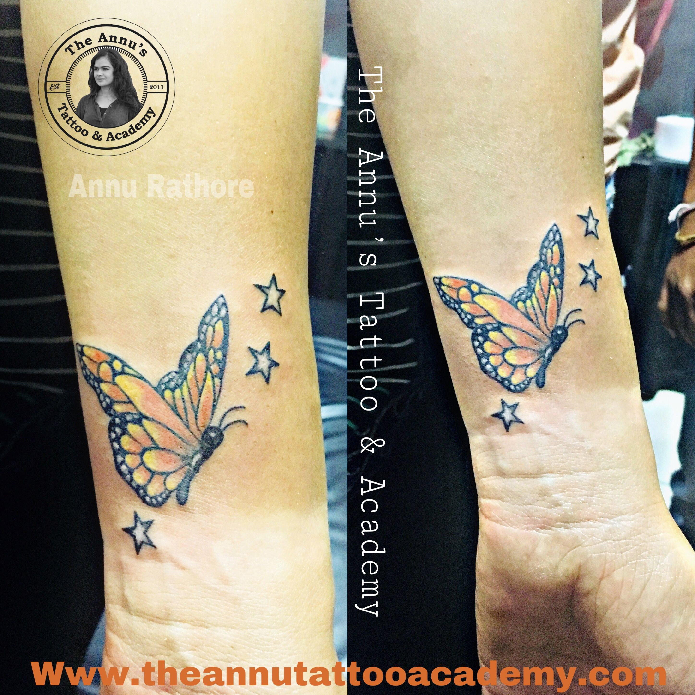 Star & butterfly tattoo designs!! butterflytattoo star