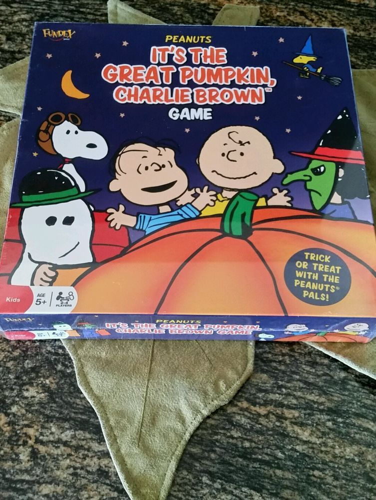 It's The Great Pumpkin Charlie Brown Board Game Halloween Peanuts Snoopy New #Fundex