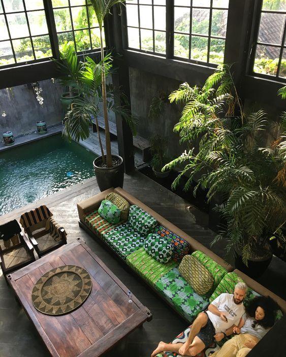 Inspiration terrasse, de la couleur, du bois et de l'eau