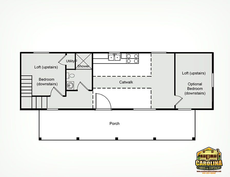 14 X 40 Floor Plans With Loft The Cape Cod 14 39 X 40