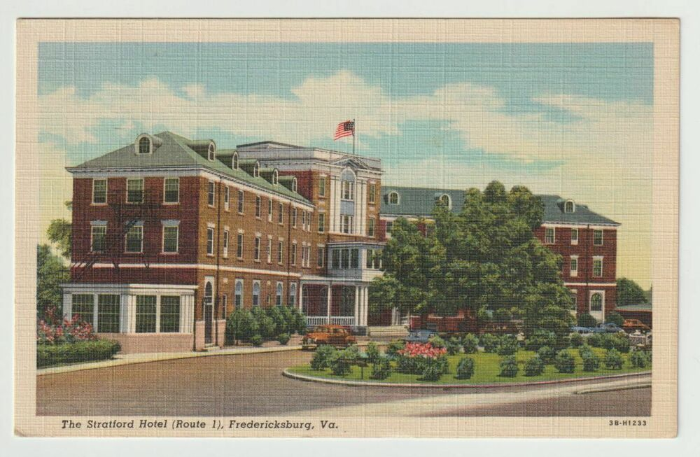 1946 Postmarked Postcard The Stratford Hotel Route 1