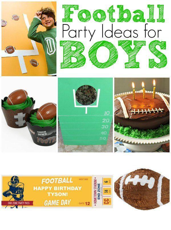 Football Birthday Party Ideas Football Birthday Party Football Birthday Birthday Party Activities