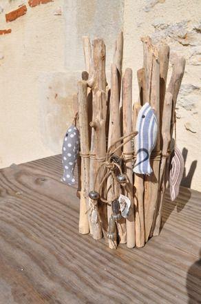 vase bois flott en revenant de la plage accessoires de maison par les tresors de lor. Black Bedroom Furniture Sets. Home Design Ideas