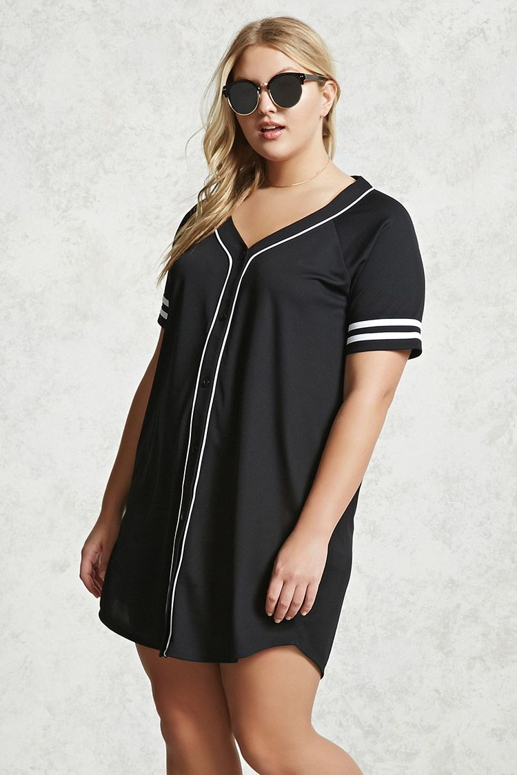 Forever 21+ A baseball jerseyinspired knit Tshirt