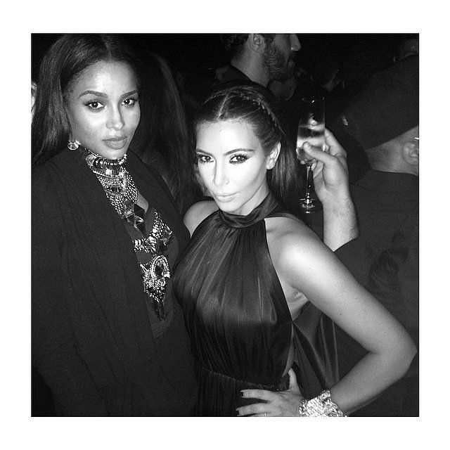 "Ciara and Kim Kardashian had a ""mommy's night out"" in Ibiza."