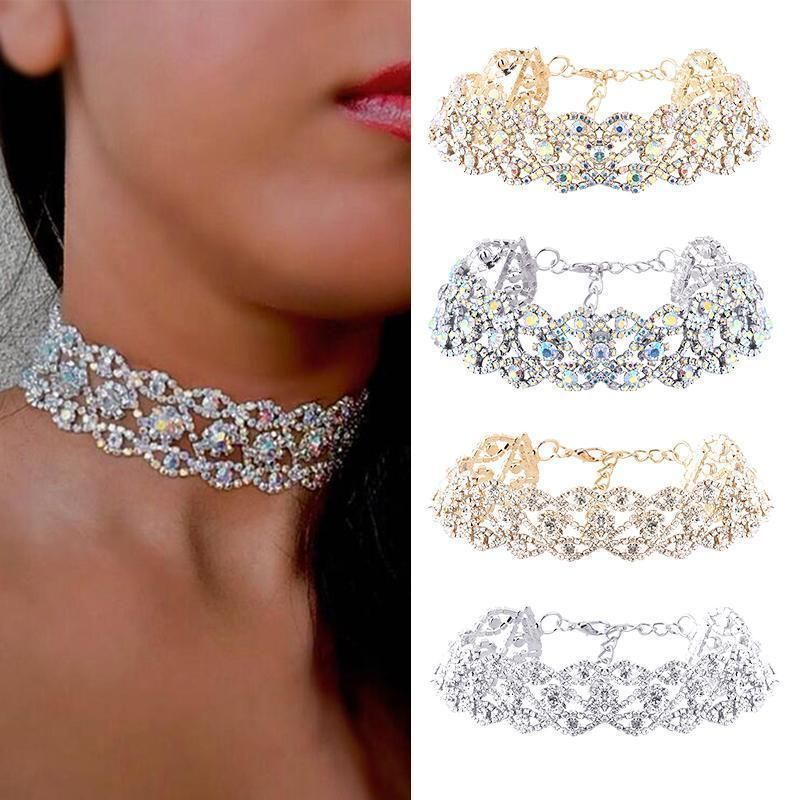 722e32b26 1.01AUD - Luxury Crystal Rhinestone Pendant Choker Collar Necklace Women  Wedding Jewelry #ebay #Fashion