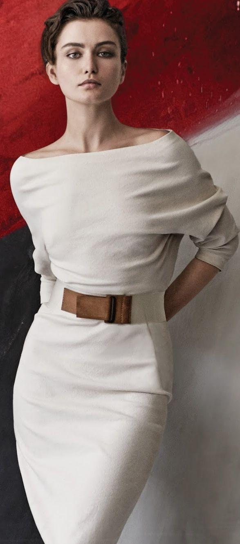 Andreea Diaconu By Peter Lindbergh For Donna Karan Spring/Summer 2015 Women's Belts - http://amzn.to/2id8d5j
