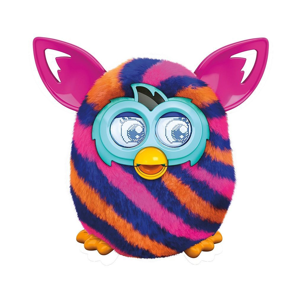 Furby Boom Diagonal Stripes Plush Toy Interactive With Furblings Furby Boom Best Baby Toys Childhood Toys