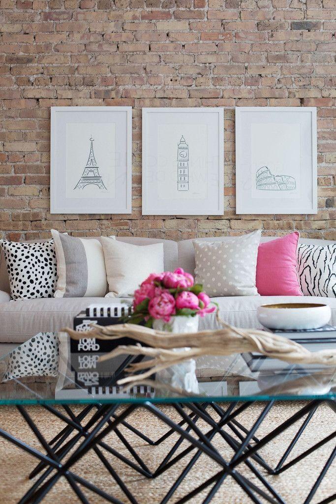 Design - Steinwand Wohnen Pinterest Beautiful, Freigelegtes - wohnzimmer design steinwand