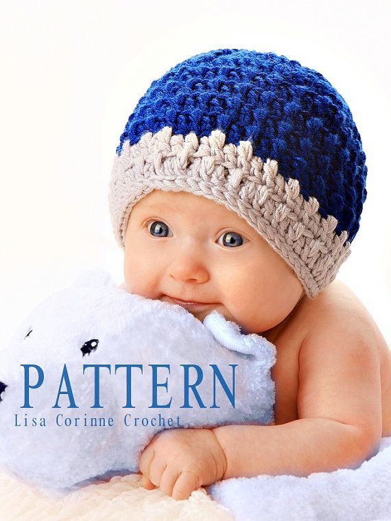 Baby Boy Hat Crochet PATTERN, Baby Beanies Hat, Baby Boy Beanie Hat ...