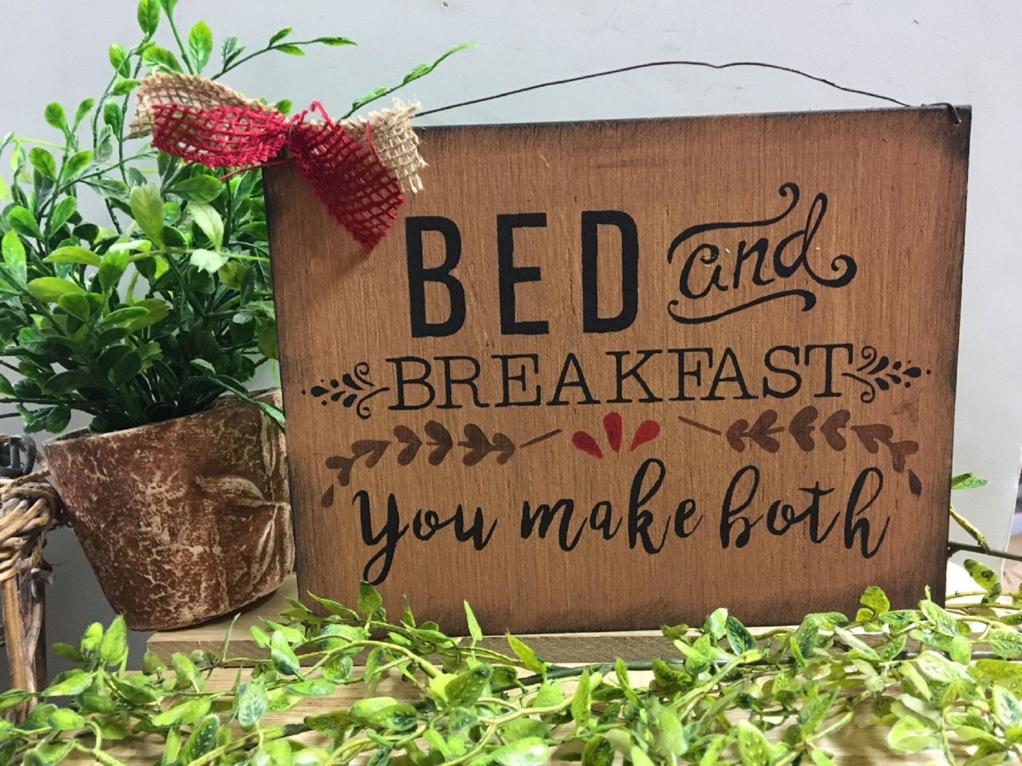 Bed breakfast you make both country kitchen hand painted