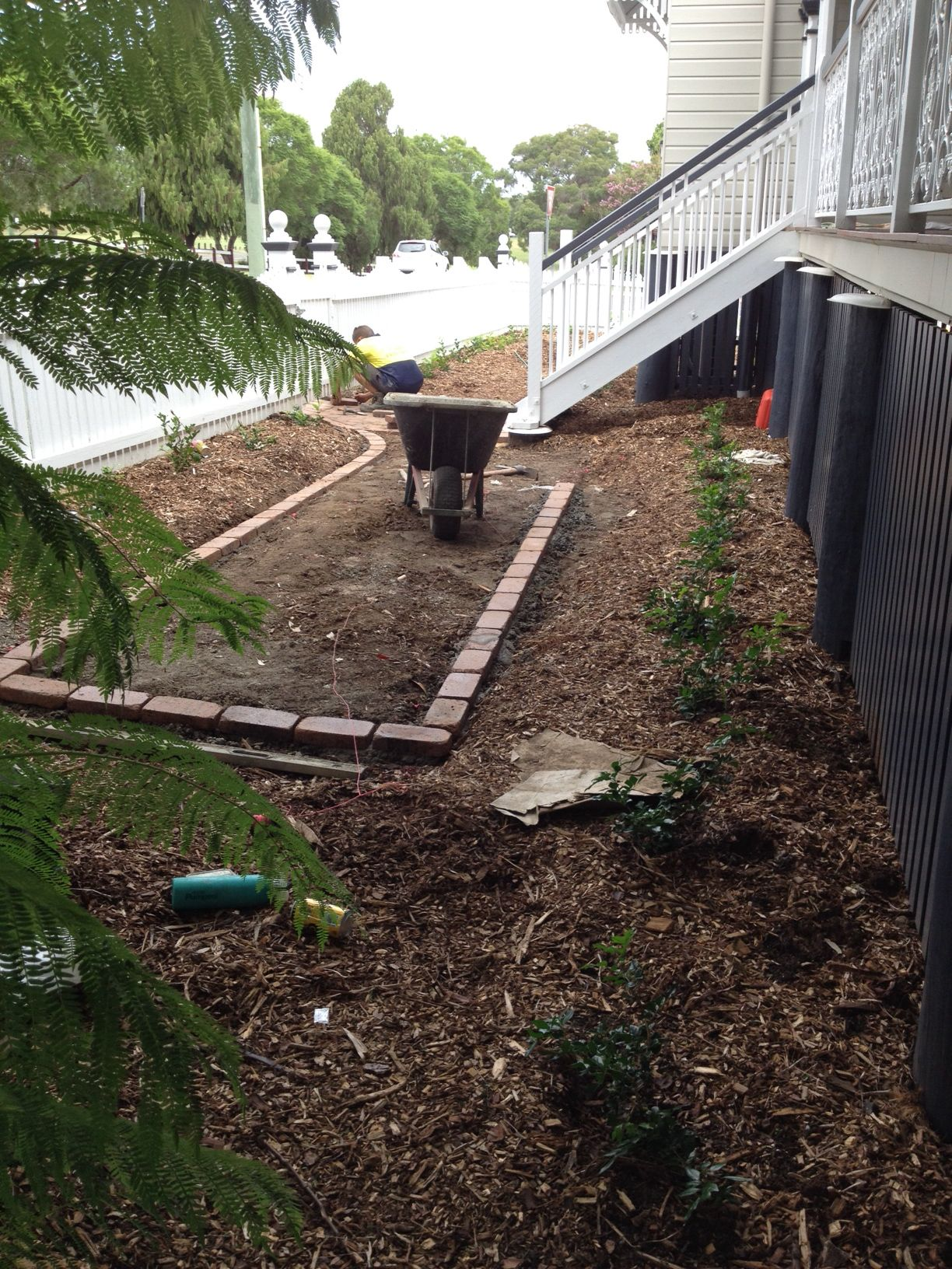 Paving and garden borders underway (With images) | Garden ...