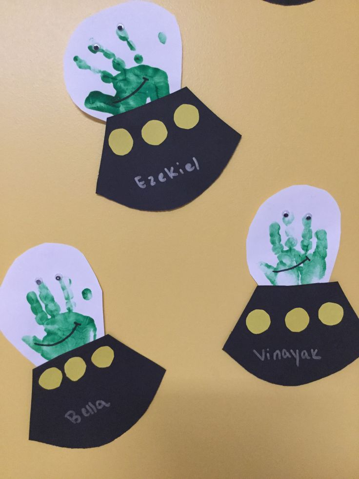 Outer Space Alien Handprint Art Project Great Craft For Kids At