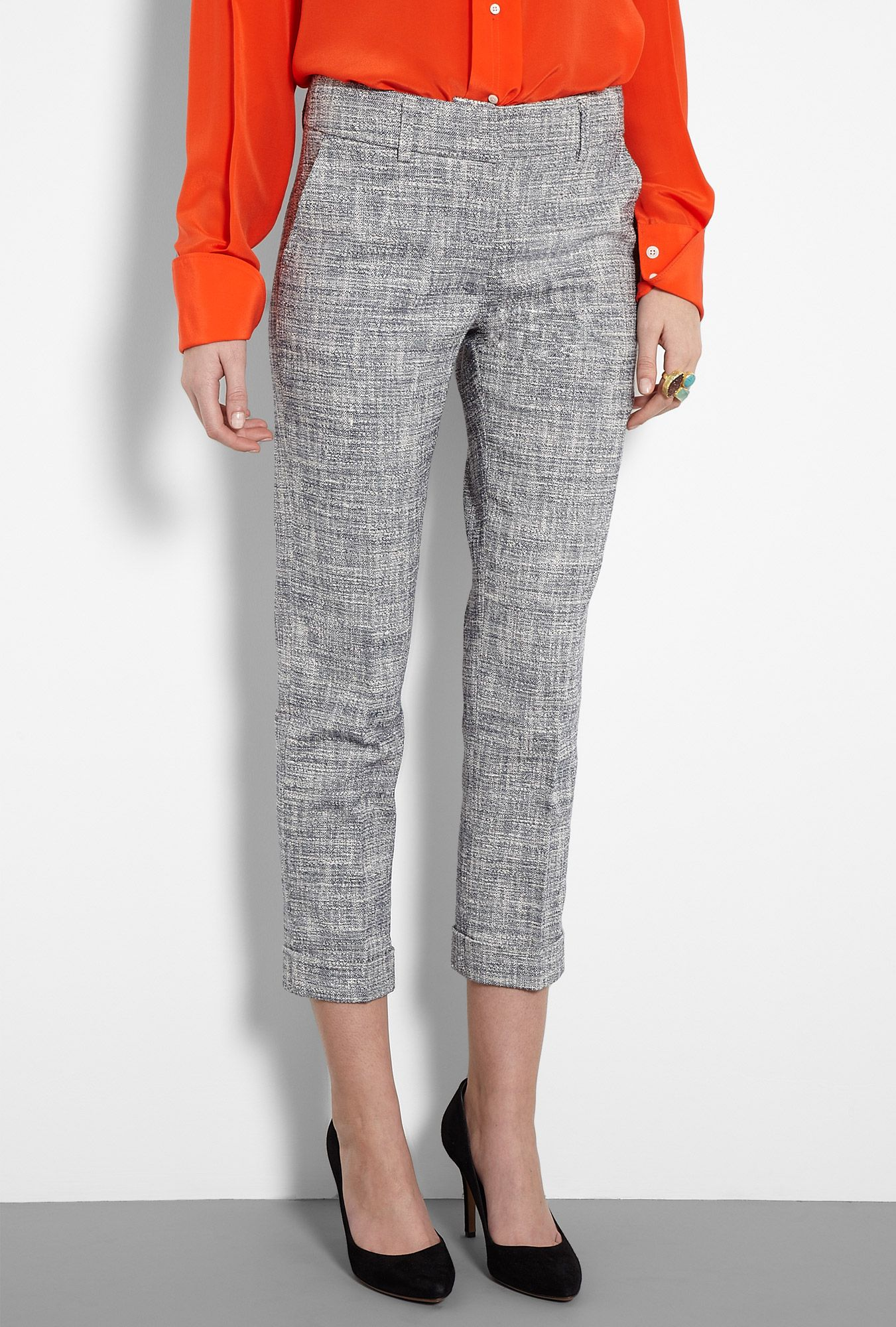 Love these 3/4 length tweed trousers