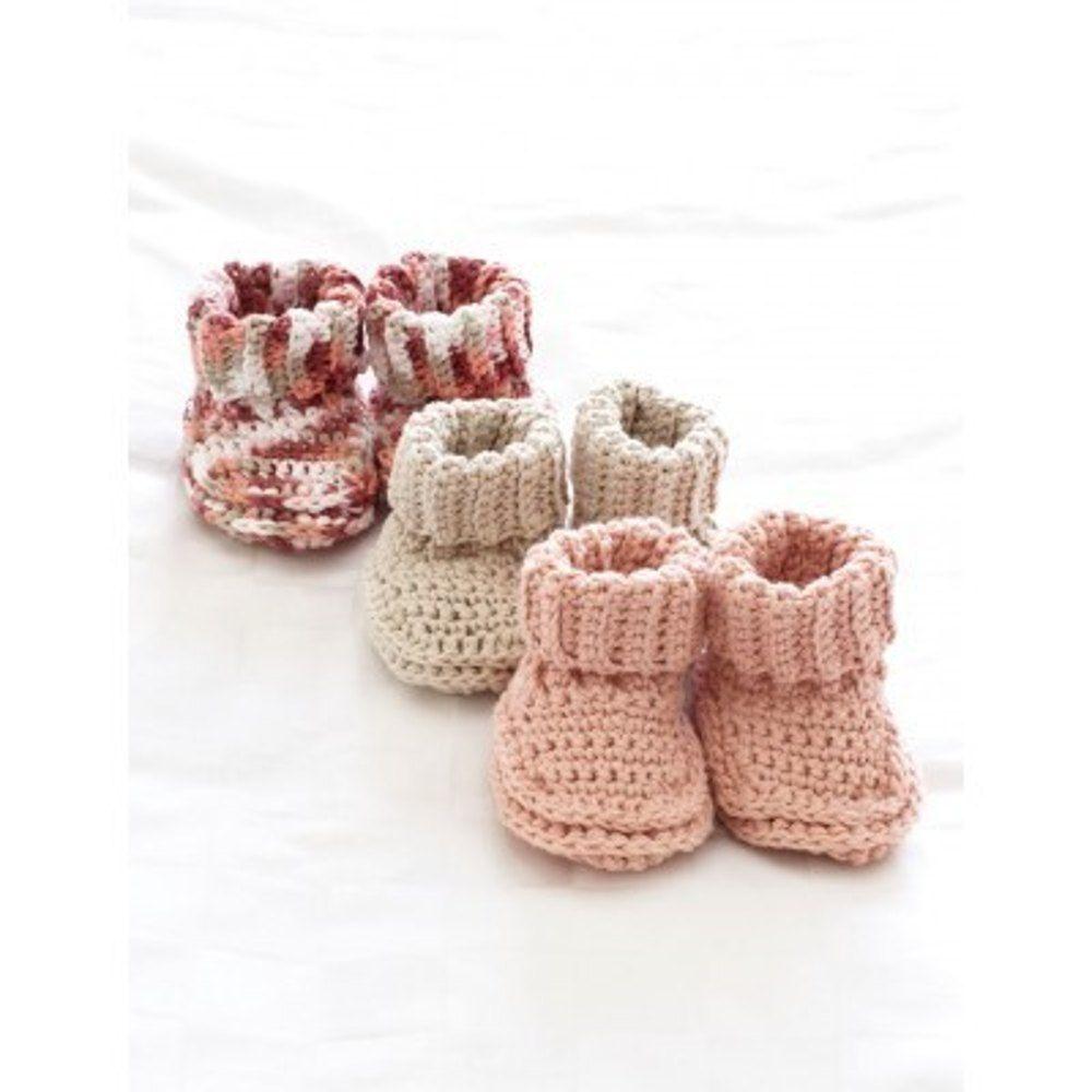 Baby\'s Booties in Bernat Handicrafter Cotton Solids. Discover more ...