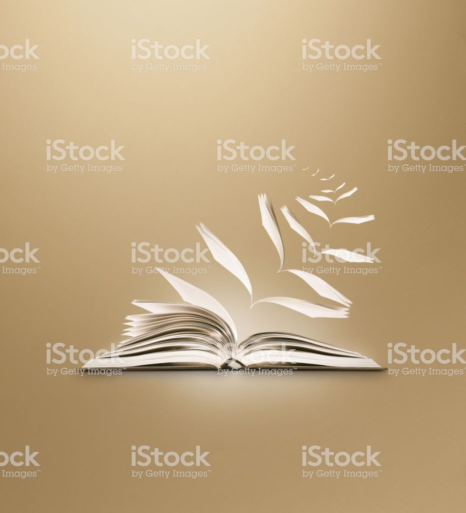 Reading Book Flying Pages Brown Background Royalty Free Stock Photo Books To Read Ge Image Stock Images Free