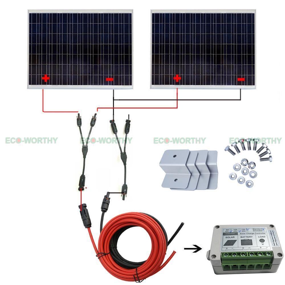Off Grid Solar System 250w 500w 750w Kit W X2f Regulator For Home Power Rv Au Ship In Electronics Solar Solar Panels Eb Off Grid Solar Solar Solar System