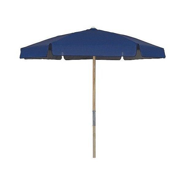 FiberBuilt .5u0027 Patio Umbrella Vinyl Weave Navy Blue ($185) ❤ Liked On