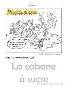 Cabane a sucre coloriage cabane sucre pinterest - Coloriage de cabane ...