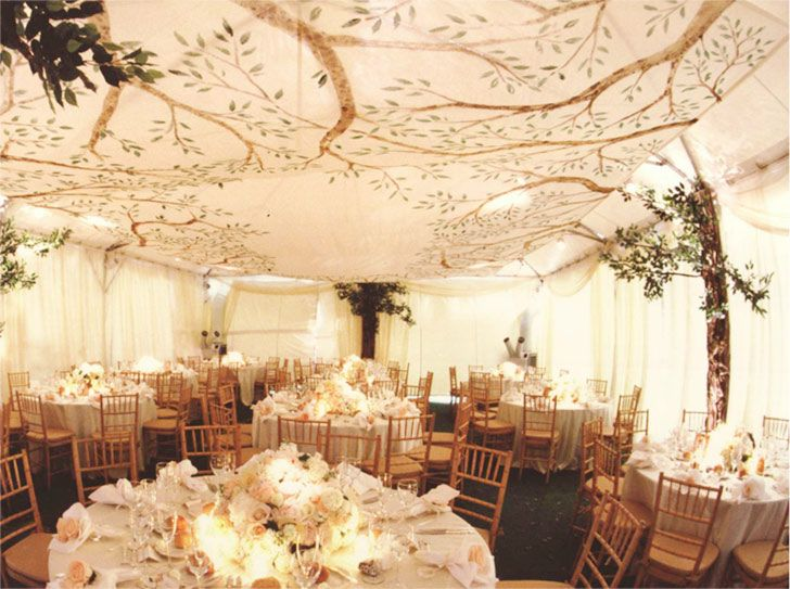 Natural Theme Wedding Tent Decoration
