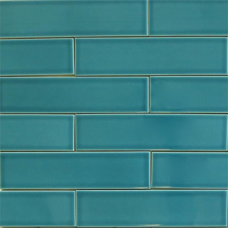 Ceramic Subway Tile For Kitchen Backsplash Or Bathroom In Blue Color Teal Agate See Also The Red Next To It