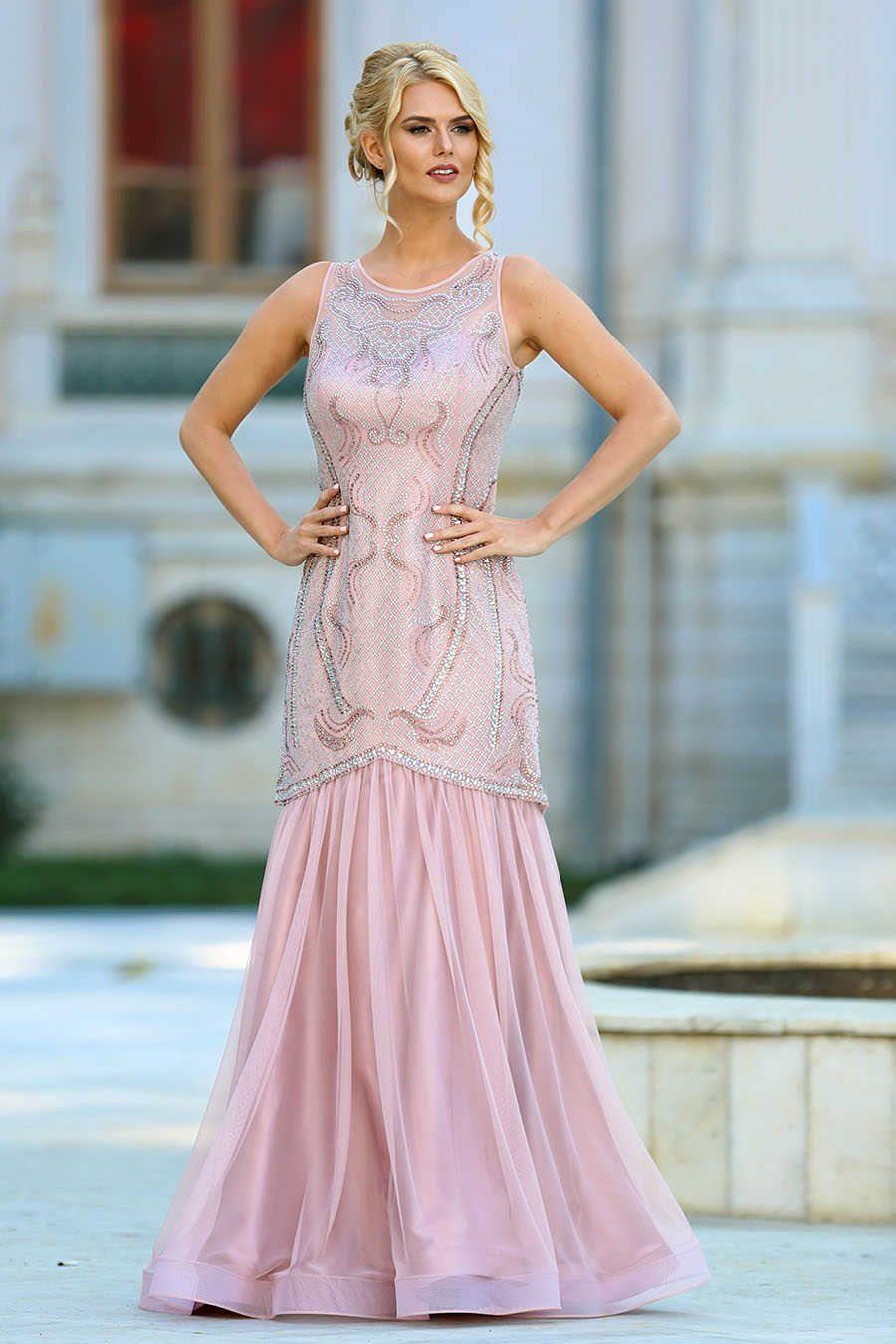 Neve style powder pink prom dress pd dresses pinterest
