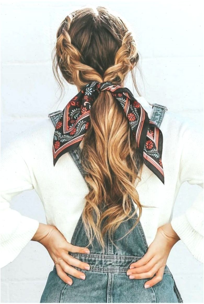 21 pretty ways to wear a scarf in your hair, easy hairstyle with scarf , hairsty... - Best Frisuren ideen