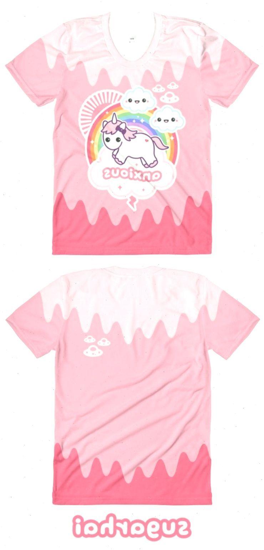 Kawaii Clothing | Anxious Unicorn | Aesthetic Soft Grunge | Pastel Goth Shirts | Tumblr Clothing |