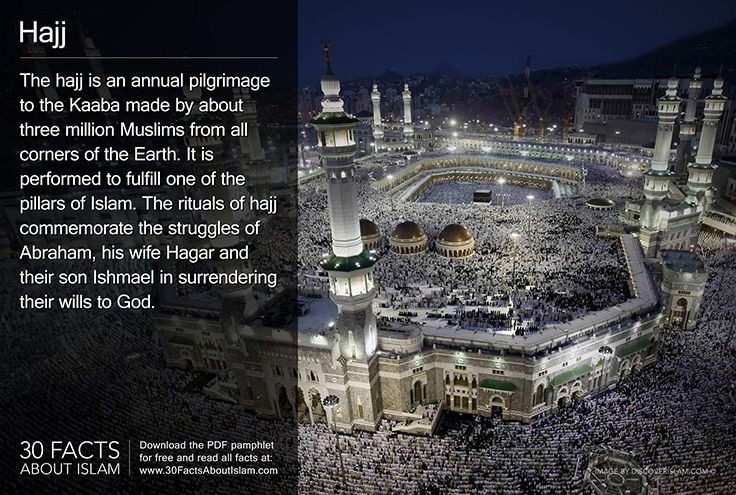 The hajj is an annual pilgrimage to the Kaaba made by about