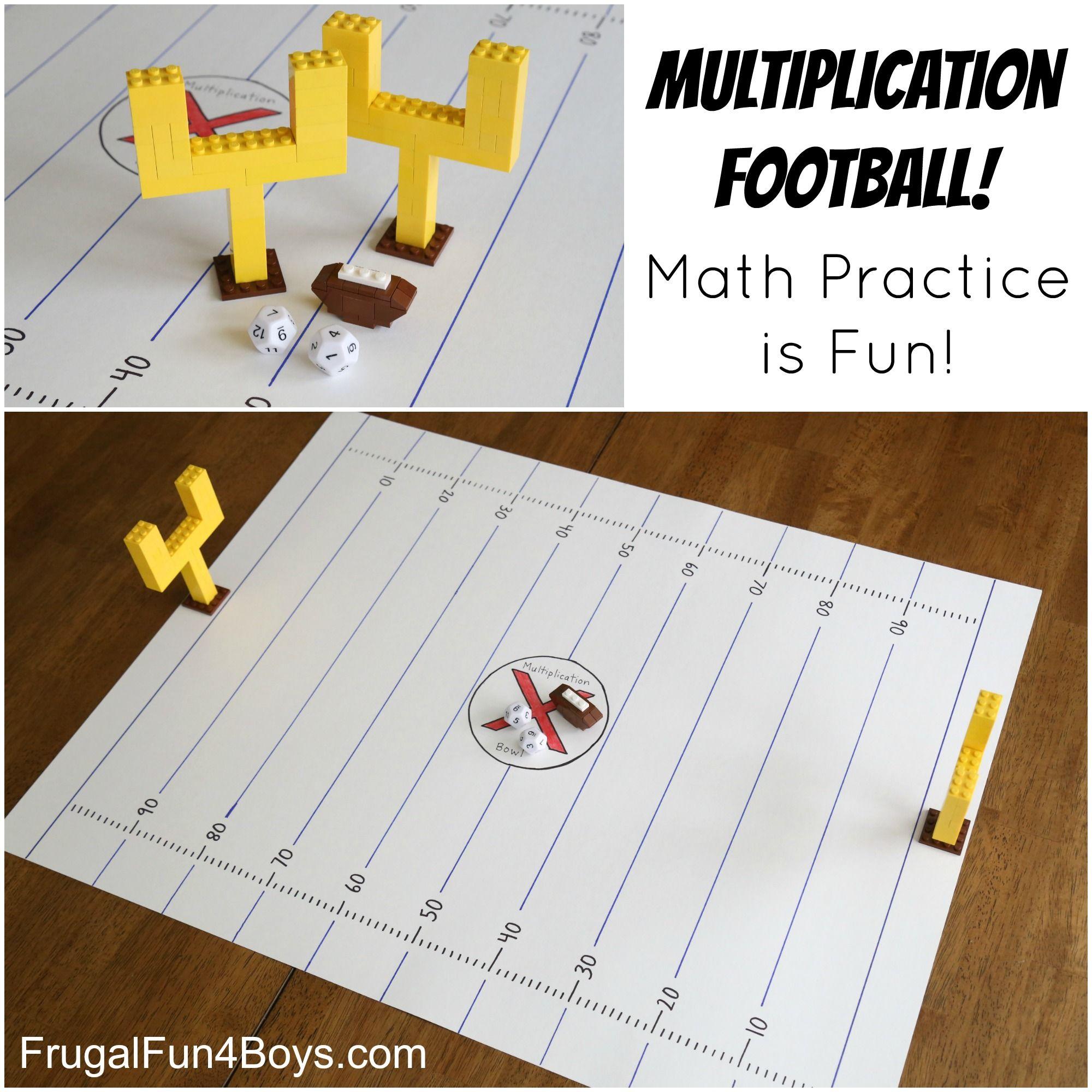 Multiplication Football Game Make Math Fact Practice Fun