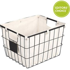 Better Homes And Gardens Medium Wire Basket With Chalkboard Black 12 44 16 X 12 75 X 11 Wire Basket Storage Wire Baskets Wire Bins